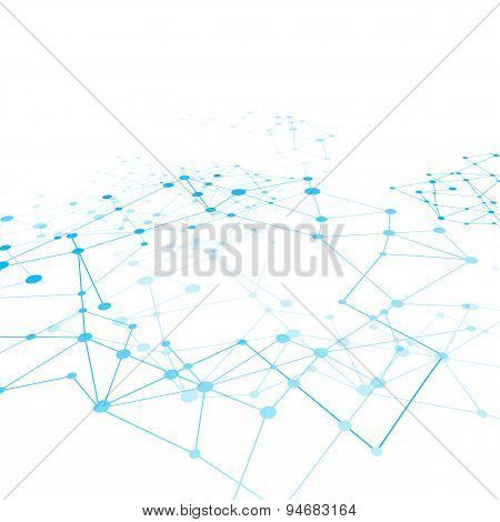 Abstract Background Network Connect Concept - Vector Illustration 009