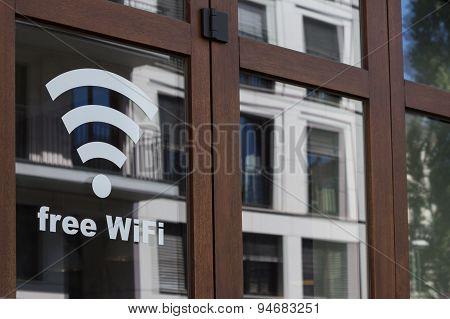 Free wifi - public internet connection symbol