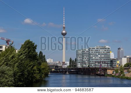 tv tower, berlin , germany -summer
