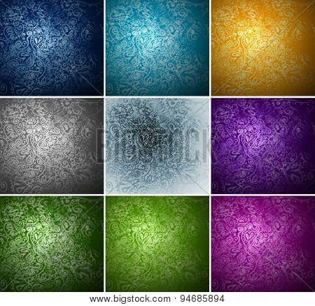 set of colorful background for design