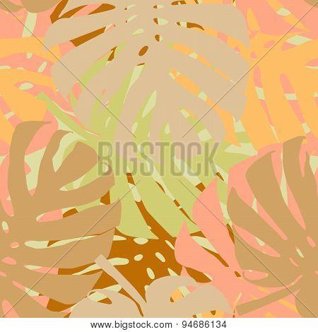 palm leaves seamless