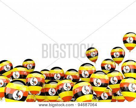 Flying Balloons With Flag Of Uganda