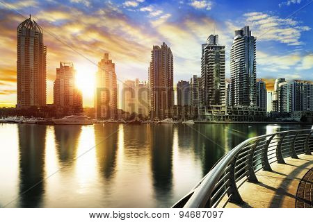 Cityscape Of Dubai United Arab Emirates