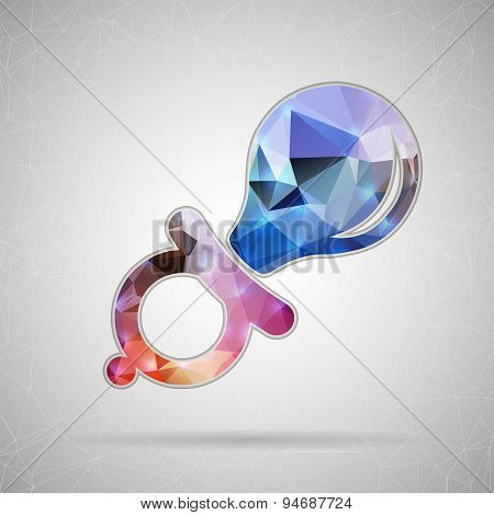 Abstract Creative concept vector icon of nipple for Web and Mobile Applications isolated on backgrou