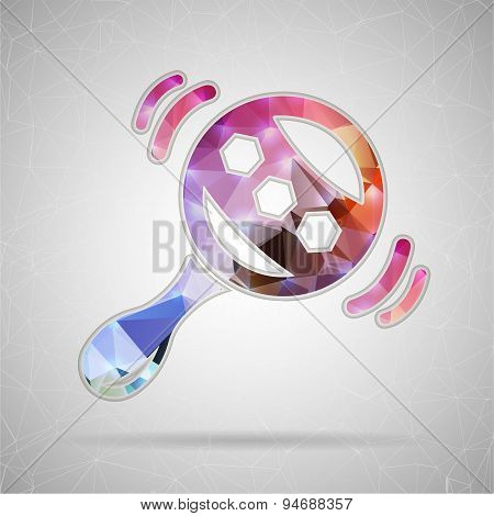 Abstract Creative concept vector icon of rattle for Web and Mobile Applications isolated on backgrou