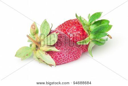 Two Freshly Strawberries Rotated