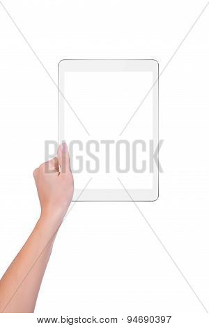 White Tablet In One Hand