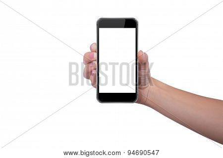 Girl Is Holding A Phone In Her Right Hand