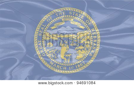 Nebraska State Silk Flag