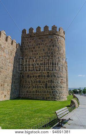 Detail Tower Avila Wall