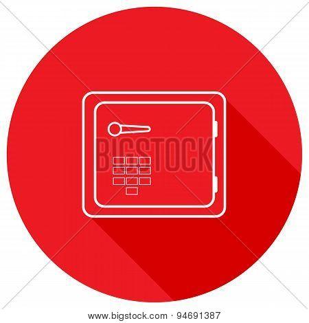 Safe Icon. Sleek Design. Vector Illustration.