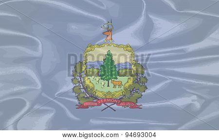 Vermont Silk Flag