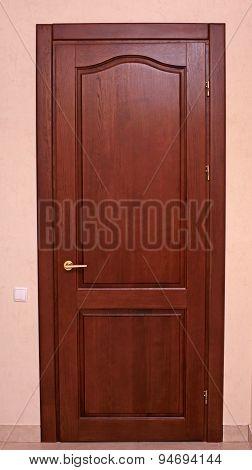 Entrance Wooden Door To Living Room
