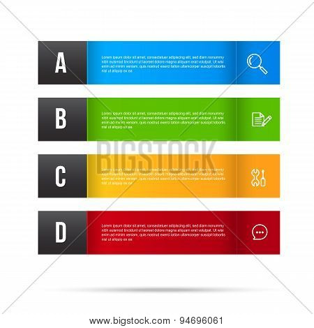 Abstract Color Tag Banner Isolated On White Background 001