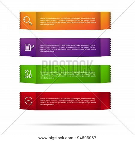 Abstract Color Tag Banner Isolated On White Background 002