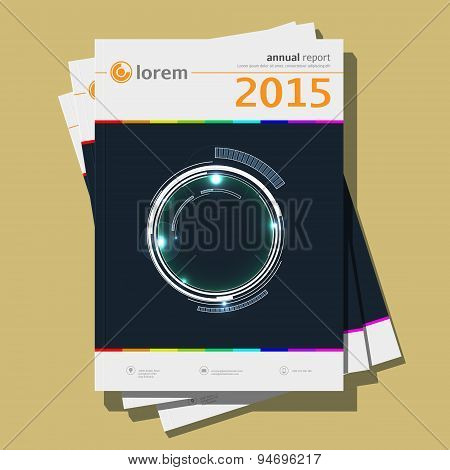 Annual report Design, vector Illustration