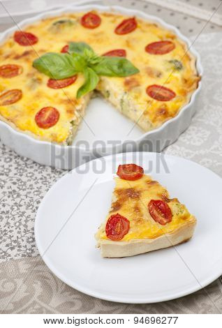Cheese Quiche With Cherry Tomatoes