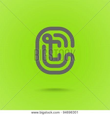 Vector Letter C Graphic Logo Element