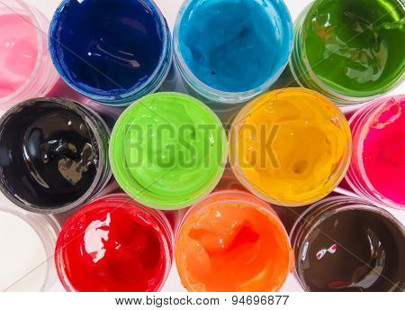 Bright Brilliant Color Background With Different Colors