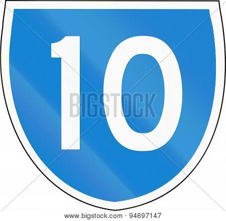 Australian State Route Shield 10