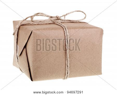 Brown Package Isolated