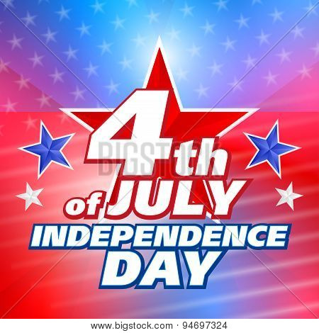 Vector Abstract 4Th Of July Background
