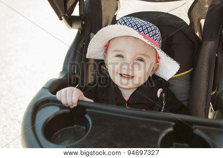 Baby sitting stroller