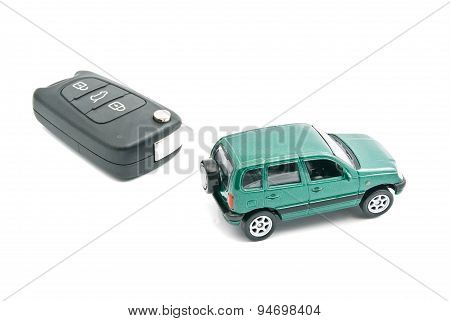 Car Keys And Green Car