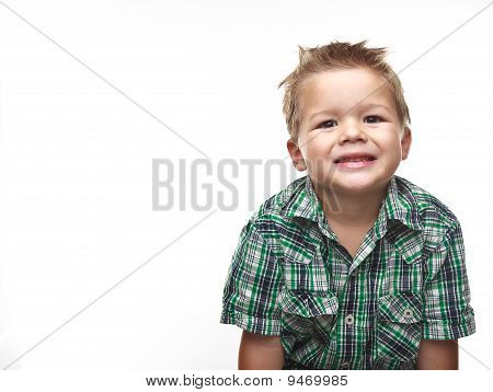 Cute Little Boy Smiling For The Viewer