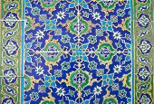 image of ceramic tile  - Old traditional Turkish ceramic tiles - JPG