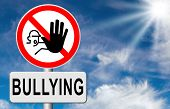 foto of school bullying  - stop bullying no harassment or threat at school or at work stopping an online internet bully  - JPG