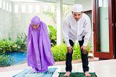 image of muslim man  - Asian Muslim couple - JPG