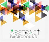 picture of color geometric shape  - Abstract geometric background - JPG