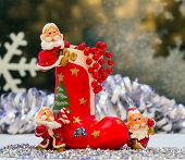 picture of gnome  - Gnomes of Christmas toy and boots for gifts - JPG