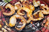 pic of pry  - Octopus on the grill in the restaurant - JPG