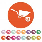 pic of wheelbarrow  - The wheelbarrow icon - JPG