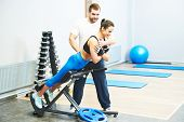 picture of personal assistant  - fitness and sport concept - JPG