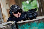 stock photo of sub-machine-gun  - Military industry - JPG