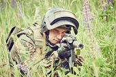 picture of rifle  - military - JPG