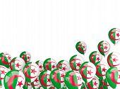 stock photo of algeria  - Flying balloons with flag of algeria isolated on white - JPG