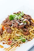 image of korean  - Stewed meat with noodles and bean sprouts - JPG