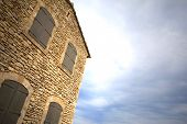 picture of stone house  - Old stoned house in a Provence village France - JPG