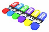 picture of usb flash drive  - set of multicolored USB flash drive ss 3 - JPG