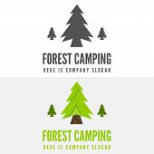Modern camp badge, logo, emblem and logotype elements for camping, web, business or other projects poster