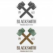 image of blacksmith shop  - Set of logo and logotype elements for blacksmith - JPG