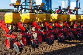 pic of workhorses  - Close up of Pneumatic Seed Drill on - JPG