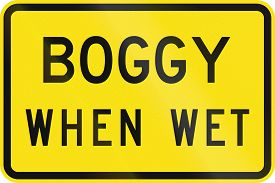 stock photo of boggy  - An Australian warning traffic sign  - JPG