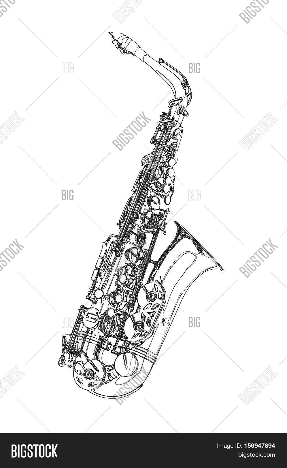 saxophone alto saxophone classical instrument sketch