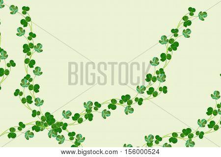 green clover leaves. St.Patrick 's Day. trefoil