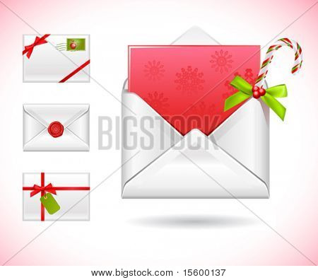 "vector icons ""christmas mail"""